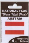 Austria Country Flag Tattoos.
